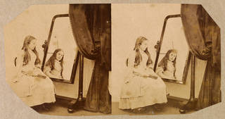 Stereoscopic photograph of Clementina Maude, by Lady Clementina Hawarden, 1859 – 61, England. Museum no. 457:284-1968. © Victoria and Albert Museum, London