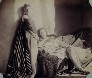 Isabella Grace and Clementina Maude, photograph by Lady Clementina Hawarden, about 1863 – 64, England. Museum no. 373-1947. © Victoria and Albert Museum, London