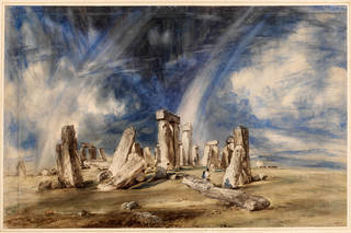 Watercolour, 'Stonehenge', by John Constable, 1835, Salisbury, England. Museum no. 1629-1888. © Victoria and Albert Museum, London