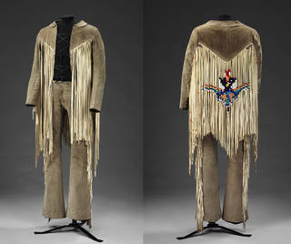 Jacket and trousers, worn by Roger Daltrey from The Who at the Isle of White Festival, 1969, unknown maker. Museum no. S.204&A-1978. © Victoria and Albert Museum, London