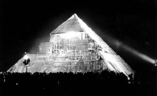 The first Pyramid stage at Glastonbury Festival, 1971. © Brian Walker