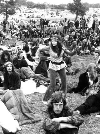 Glastonbury, 1970s.