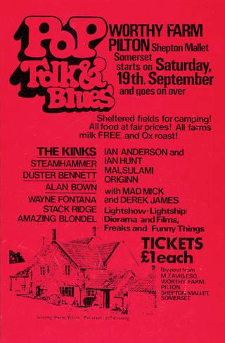 Glastonbury Festival poster, 1970.