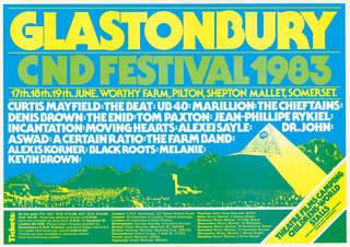 Glastonbury Festival poster, 1983.