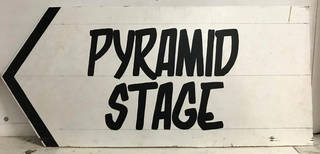 Pyramid Stage sign.