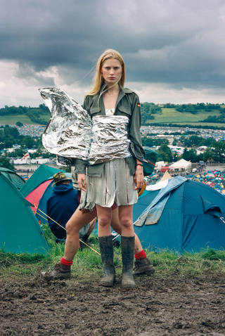 Tim Walker fashion shoot at Glastonbury. © Tim Walker