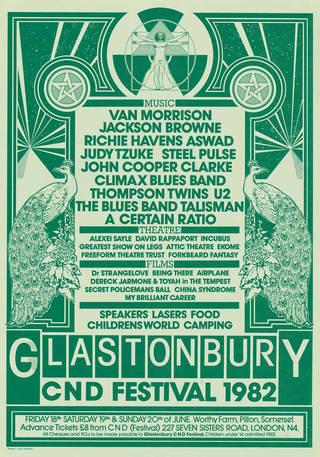 Glastonbury Festival poster, 1982. © Glastonbury Festival