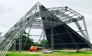 Pyramid Stage under construction, 2019. © Glastonbury Festival