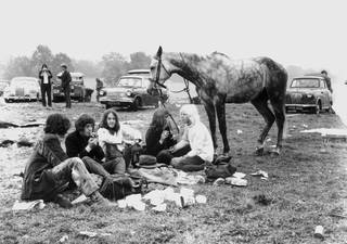 Glastonbury Festival, 1970s. © Brian Walker