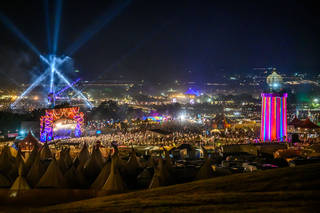 View of Park Stage and the Ribbon Tower. © Glastonbury Festival