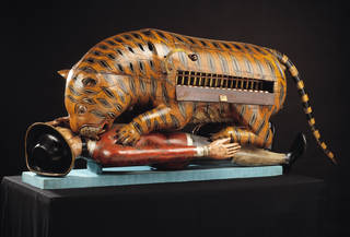 'Tippoo's Tiger', mechanical organ, about 1793, Mysore, India. Museum no. 2545(IS). © Victoria and Albert Museum, London