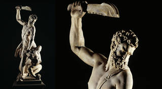 Samson Slaying a Philistine, figure group, sculpted by Giovanni Bologna, 1560 – 62, Florence, Italy. Museum no. A.7-1954. © Victoria and Albert Museum, London
