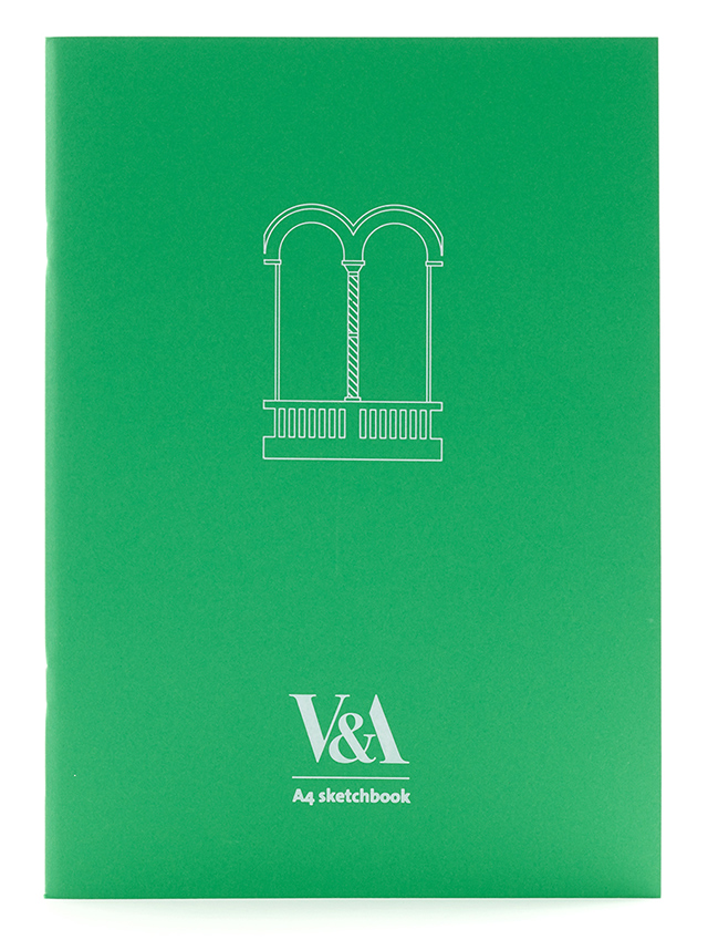 V&A green sketchbook souvenir