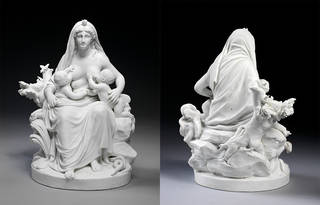 Nature (front and rear view), porcelain figure group
