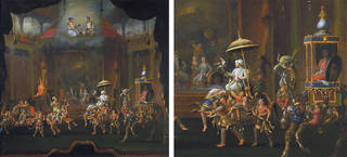 A Fantasy Royal Mughal Parade painting