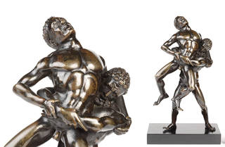 Hercules and Antaeus, statuette, about 1520s, Italy. Museum no. A.95-1956. © Victoria and Albert Museum, London