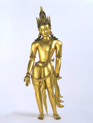 Bodhisattva Avalokiteshvara figure, 1300 – 1400, Tibet. Museum no.  IM.239-1922. © Victoria & Albert Museum, London