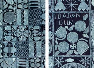 Details of adire eleko cloth in the Ibadan dun pattern