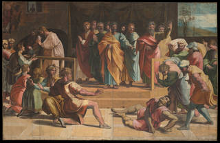 Raphael Cartoon, The Death of Ananias