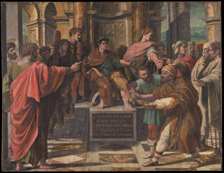 Raphael Cartoon, The Conversion of the Proconsul also known as The Blinding of Elymas