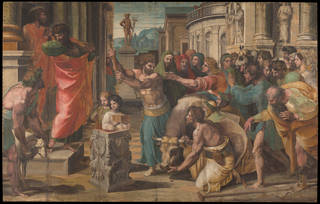 Raphael Cartoon, The Sacrifice at Lystra
