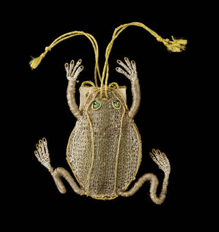 17th century purse in the shape of a frog