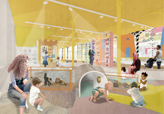 Architectural render of the Play Gallery at the V&A Museum of Childhood