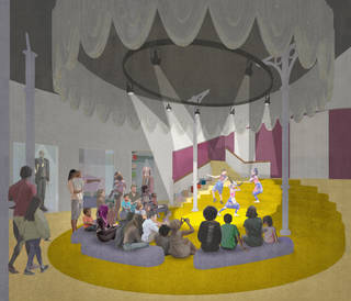 Architectural render of The Stage at the V&A Museum of Childhood