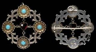 Photograph of the Seddon brooch, front and back.