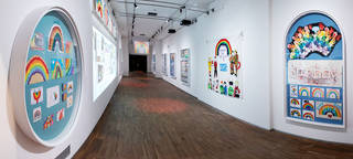 Gallery containing images of colourful rainbows made by children