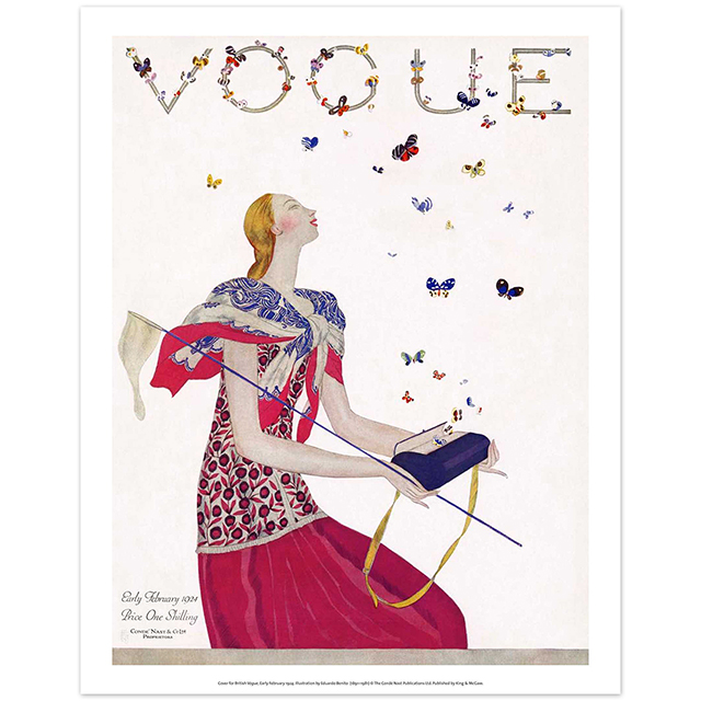 Bags illustration Vogue print
