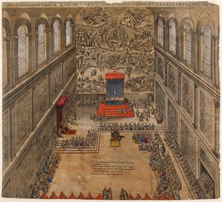 Maiestatis Pontificiae Dum in Capella Xisti Sacra Peraguntur Accurata Delineatio