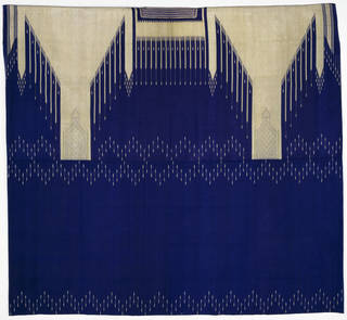 Blue and off-white pattern