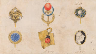 Page of designs for tie pins