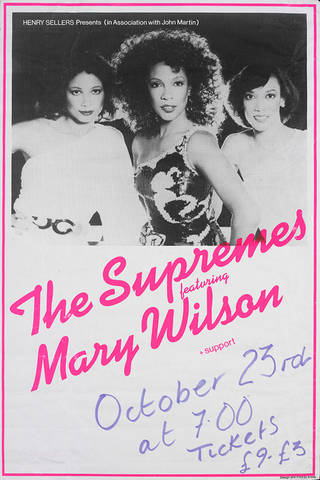 Poster advertising The Supremes with Mary Wilson