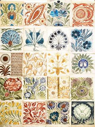 Designs for decoration and ornament for pottery and tile work