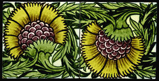 Tiles with sunflower design