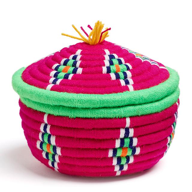 Medium pink Iranian kapu basket