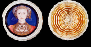 Anne of Cleves, portrait miniature in ivory box, by Hans Holbein, 1539. Museum no. P.153-1910. © Victoria and Albert Museum, London