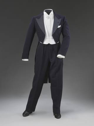 Navy blue tailcoat worn by Fred Astaire in the film 'Shall We Dance'.