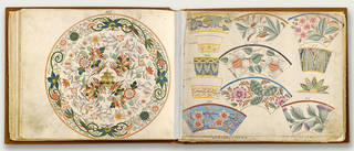 Book showing patterns for Wedgwood ceramics