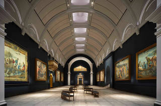 View of refurbished Raphael Court at the V&A