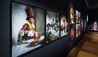 Tim Walker photographs on display in the exhibition