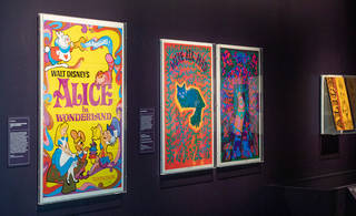 Poster art on display in the exhibition