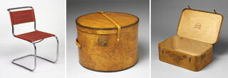 Model 'B33' cantilever chair, Hatbox, Suitcase
