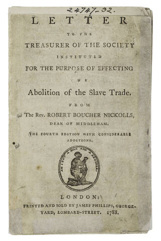 Front page of 'The Abolition of the Slave Trade'