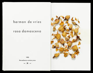 Artist's book, 'Rosa damascena', 2nd edition, by herman de vries and suzanne de vries