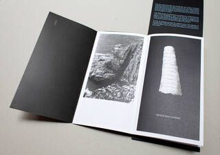 Artist's book, 'This is How the Earth Must See Itself: a walk with natural features', by Tamsin Green
