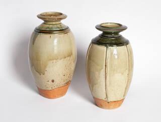 Two ceramic bottles