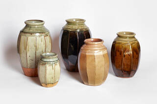 Group of five jars